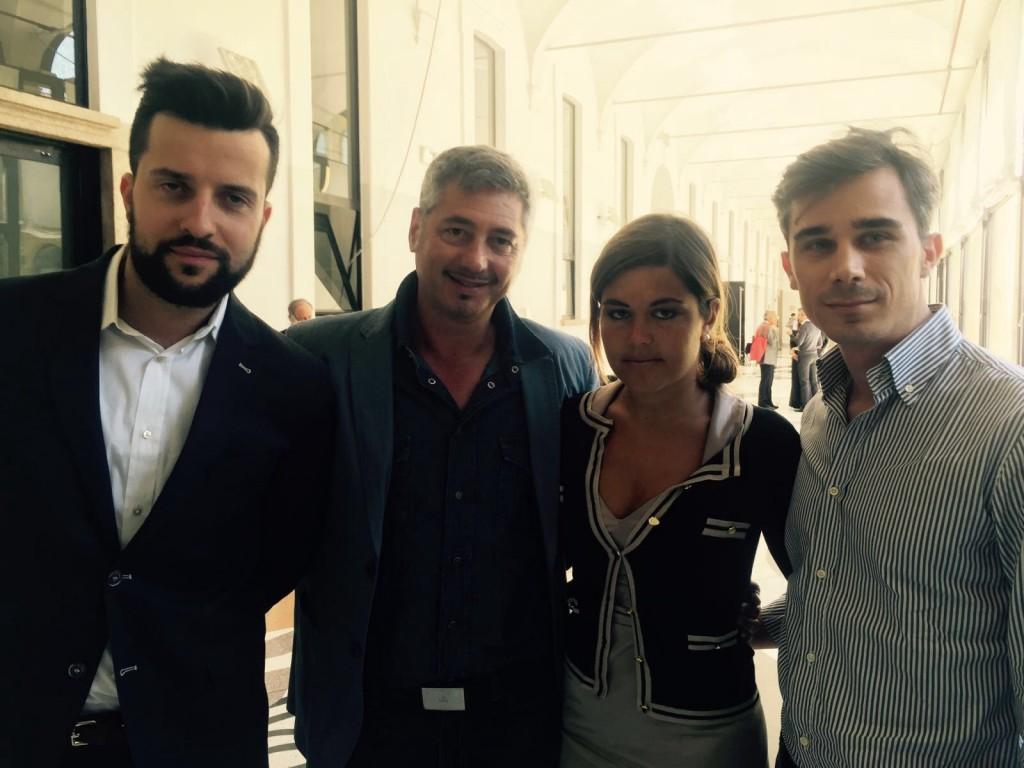 Da sinistra, Matteo Torresetti, Marco Rossi, Giulia Colombo e Federico Catta