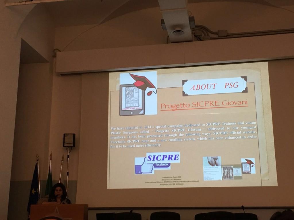 Stefania de Fazio illustra il Progetto SICPRE Giovani PSG