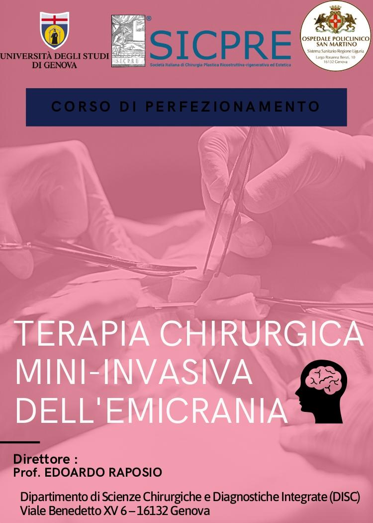 Dépliant – Corso di perfezionamento Chirurgia dell'Emicrania_page-0001