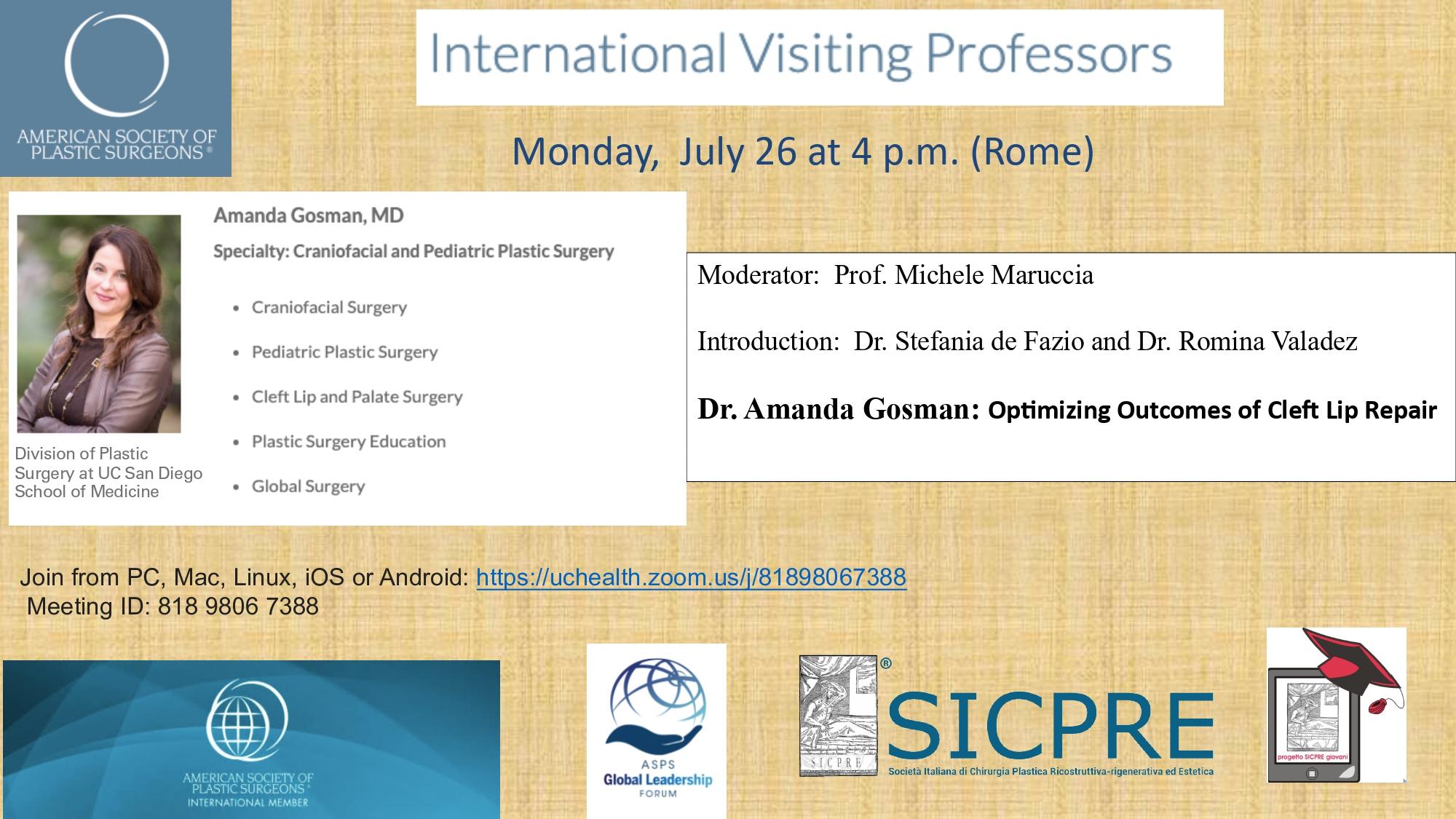 Dr Gosman Presentation